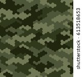camouflage pattern background... | Shutterstock .eps vector #613518653