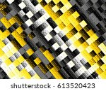 abstract futuristic geometric... | Shutterstock . vector #613520423