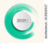 brush color watercolor round... | Shutterstock .eps vector #613528517