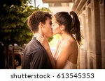 happy together   couple in love | Shutterstock . vector #613545353