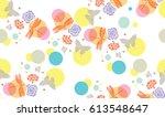 modern abstract seamless...   Shutterstock .eps vector #613548647