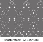 seamless pattern with geometric ... | Shutterstock .eps vector #613554083