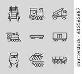 train icons set. set of 9 train ...   Shutterstock .eps vector #613562687