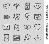day icons set. set of 16 day... | Shutterstock .eps vector #613569437