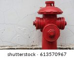 red metallic fire hydrant or...