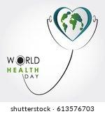 vector world health day design... | Shutterstock .eps vector #613576703