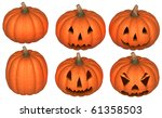 halloween scary and funny... | Shutterstock . vector #61358503