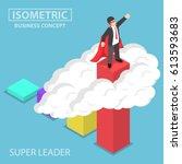 flat 3d isometric super... | Shutterstock .eps vector #613593683
