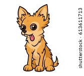 cartoon chihuahua dog with... | Shutterstock .eps vector #613611713
