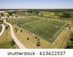aerial view of a baseball... | Shutterstock . vector #613622537