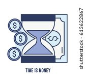 illustration of time is money... | Shutterstock .eps vector #613622867