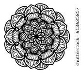 mandalas for coloring book.... | Shutterstock .eps vector #613635857