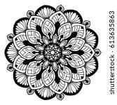 mandalas for coloring book.... | Shutterstock .eps vector #613635863