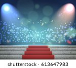 stage lighting background 3d | Shutterstock . vector #613647983