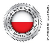 made in poland silver badge... | Shutterstock .eps vector #613650257