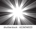 background of radial lines for... | Shutterstock .eps vector #613656023