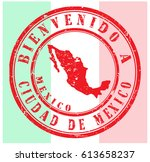 """rubber stamp """"welcome to mexico ... 