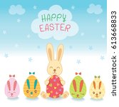 illustration vector of happy... | Shutterstock .eps vector #613668833