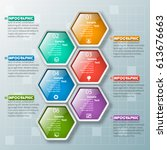 vector abstract 3d paper... | Shutterstock .eps vector #613676663