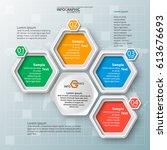 vector abstract 3d paper... | Shutterstock .eps vector #613676693