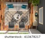 interior of modern design room... | Shutterstock . vector #613678217