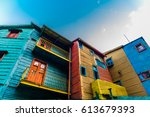 Traditional Colorful Houses On...