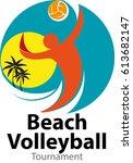 vector abstract  beach... | Shutterstock .eps vector #613682147