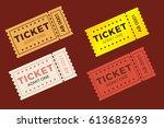 Ticket Icon Vector Set...