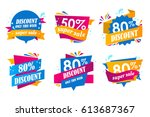 set of big sale stickers.... | Shutterstock .eps vector #613687367