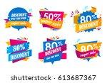 set of big sale stickers.... | Shutterstock .eps vector #613687367
