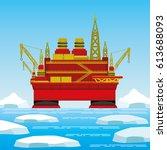 oil platform.   Shutterstock .eps vector #613688093
