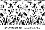 grunge black and white urban... | Shutterstock .eps vector #613692767