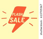 flash sale. hand drawn vector... | Shutterstock .eps vector #613705367