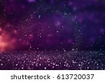 glitter vintage lights... | Shutterstock . vector #613720037