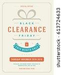 sale flyer or poster design... | Shutterstock .eps vector #613724633