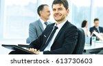 portrait of a successful...   Shutterstock . vector #613730603