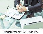 successful businessman is...   Shutterstock . vector #613735493