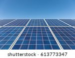 Solar Power Panel Against A...