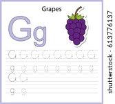 writing a z  alphabet ... | Shutterstock .eps vector #613776137