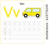 writing a z  alphabet ... | Shutterstock .eps vector #613776143