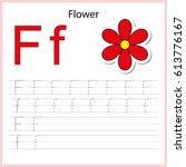 writing a z  alphabet ... | Shutterstock .eps vector #613776167