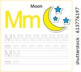 writing a z  alphabet ... | Shutterstock .eps vector #613776197