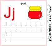 writing a z  alphabet ... | Shutterstock .eps vector #613776227