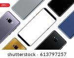 phone  mobile smartphone design ... | Shutterstock .eps vector #613797257