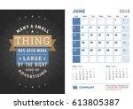 desk calendar template for 2018 ...   Shutterstock .eps vector #613805387