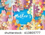 international happy mothers day.... | Shutterstock .eps vector #613805777