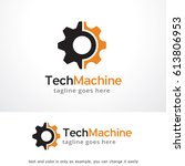 tech machine logo template... | Shutterstock .eps vector #613806953