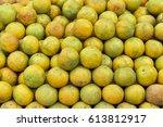 thai orange fruit selective... | Shutterstock . vector #613812917