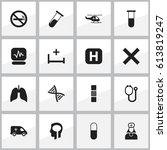 set of 16 editable health icons....