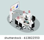 3d isometric saudi people... | Shutterstock .eps vector #613822553